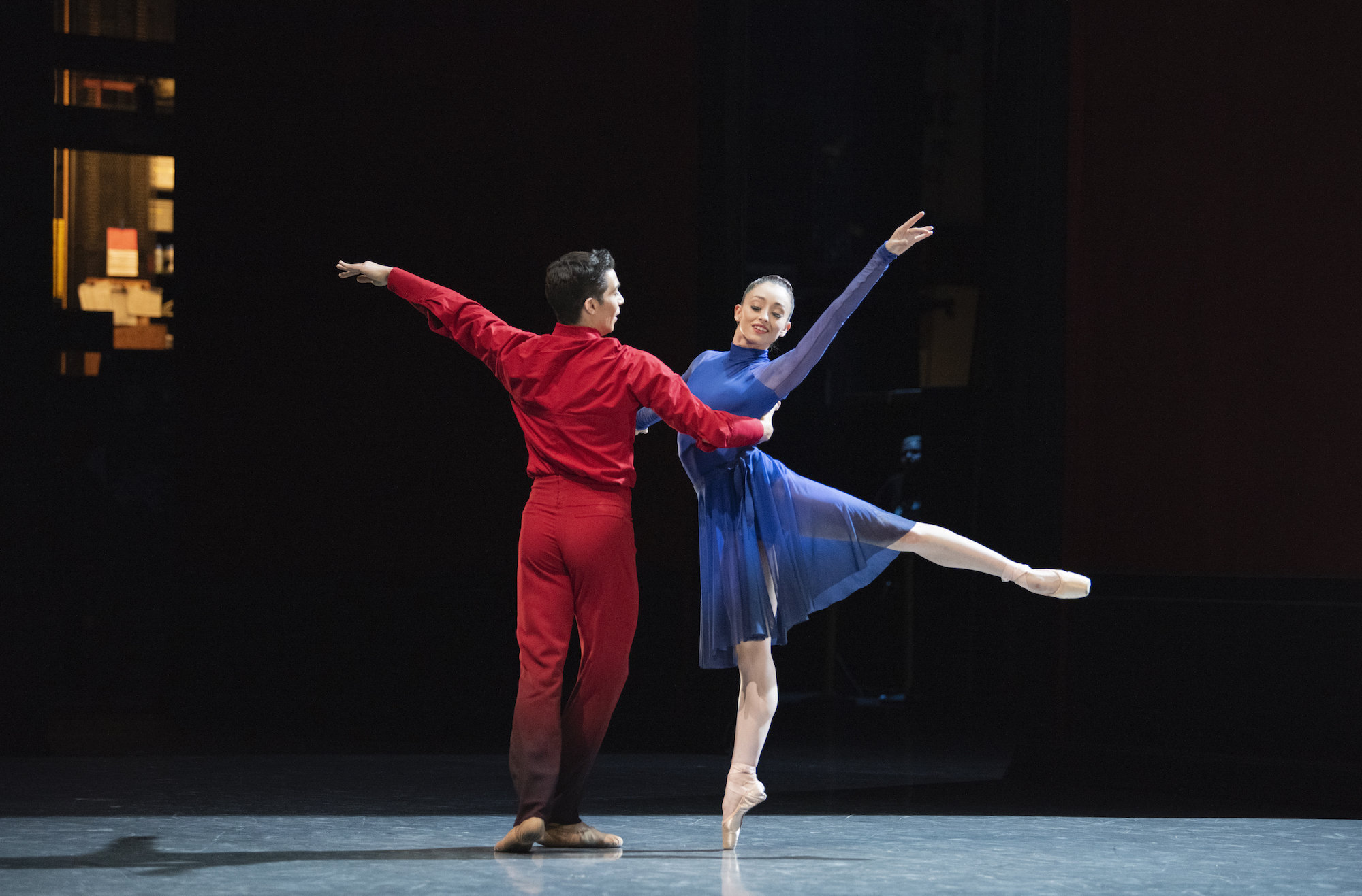 Madison Keesler and Steven Morse in Millepied's Appassionata. (© Erik Tomasson)