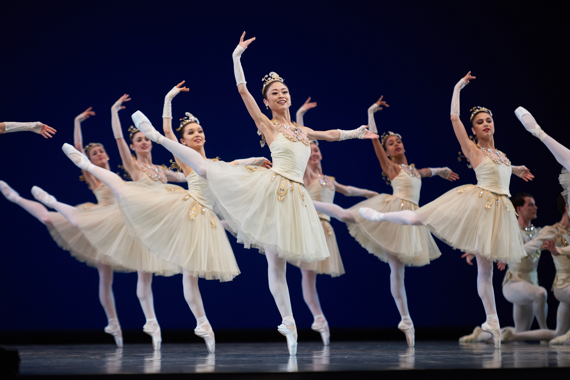 San Francisco Ballet in Balanchine's Diamonds. (© Erik Tomasson)