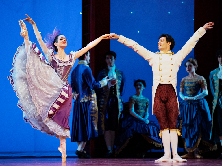 Julia Rowe and Angelo Greco in Wheeldon's Cinderella©. (© Erik Tomasson)