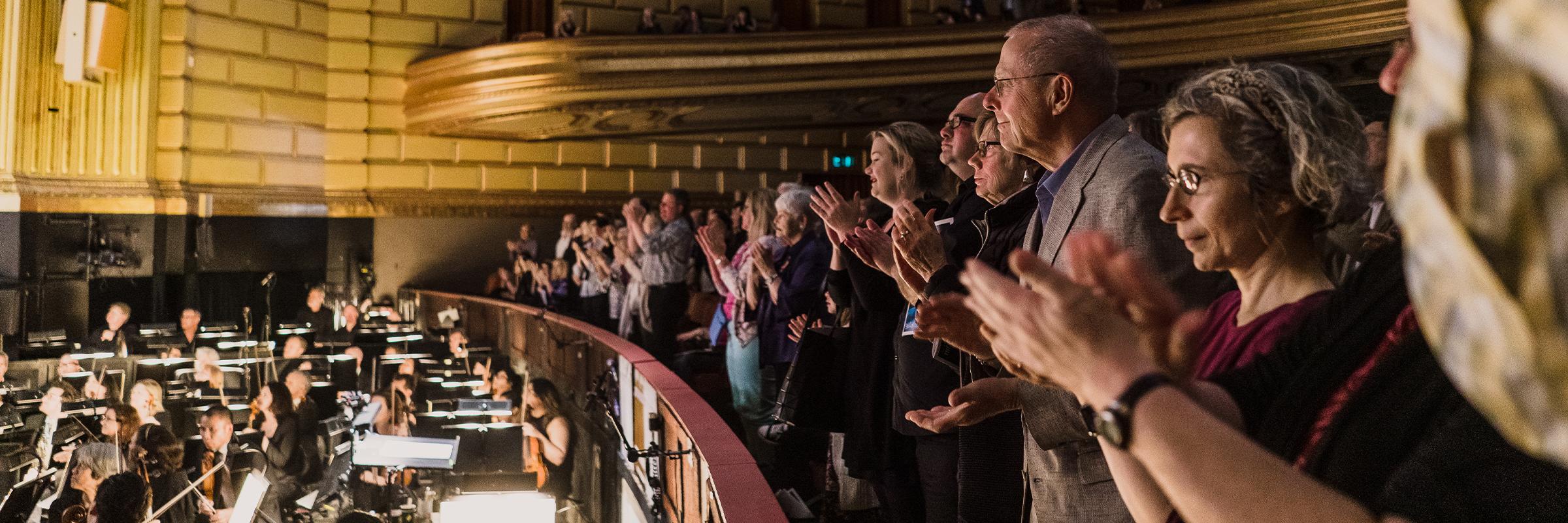 Patrons attending a performance of the San Francisco Ballet \\ © Brandon Patoc