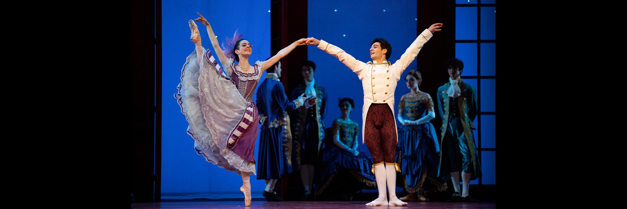 Julia Rowe and Angelo Greco in Wheeldon's Cinderella© // © Erik Tomasson