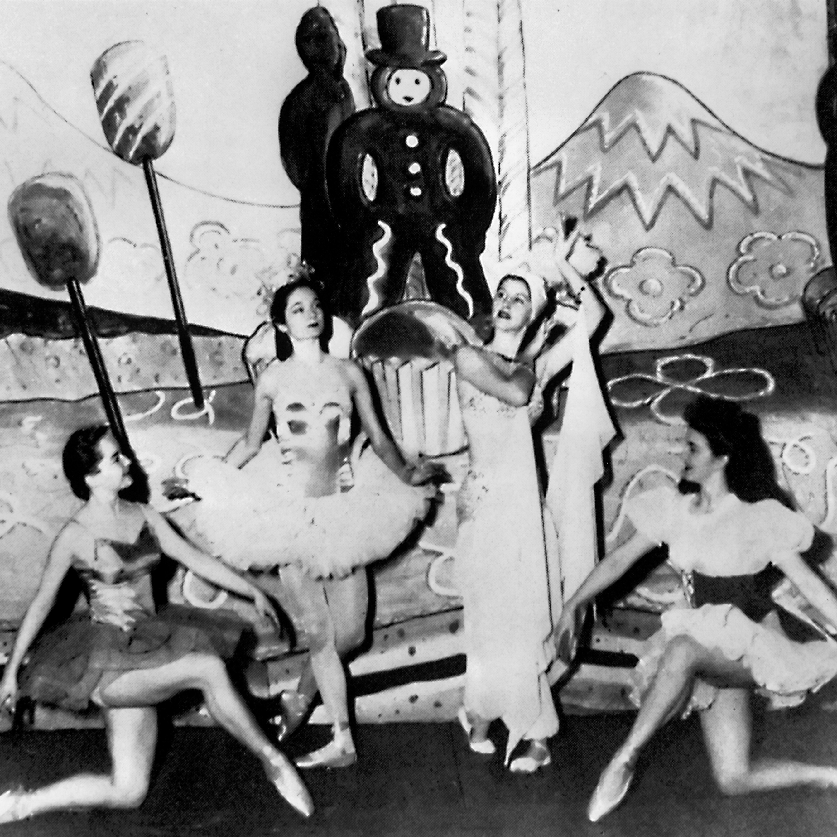 "Jocelyn Vollmar and and members of San Francisco Ballet performing in Willam Christensen's ""Nutcracker,"" 1944. (© San Francisco Ballet. Photo courtesy SFMPD.)"