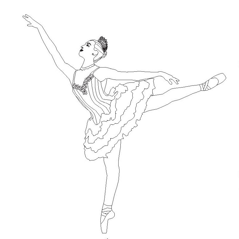 Coloring page for San Francisco Ballet's Nutcracker