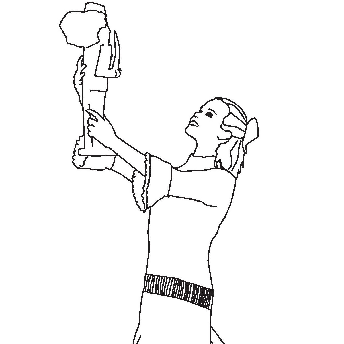 Coloring page of Clara from San Francisco Ballet's Nutcracker