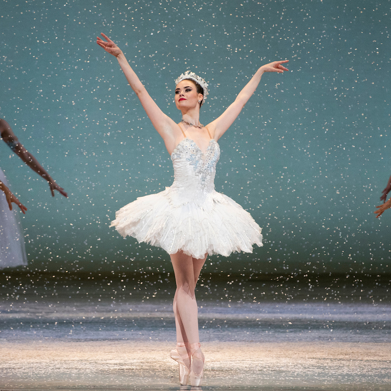 Elizabeth Powell in Tomasson's Nutcracker. (© Erik Tomasson)