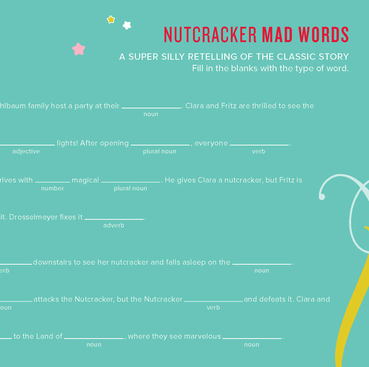 San Francisco Ballet Nutcracker word game