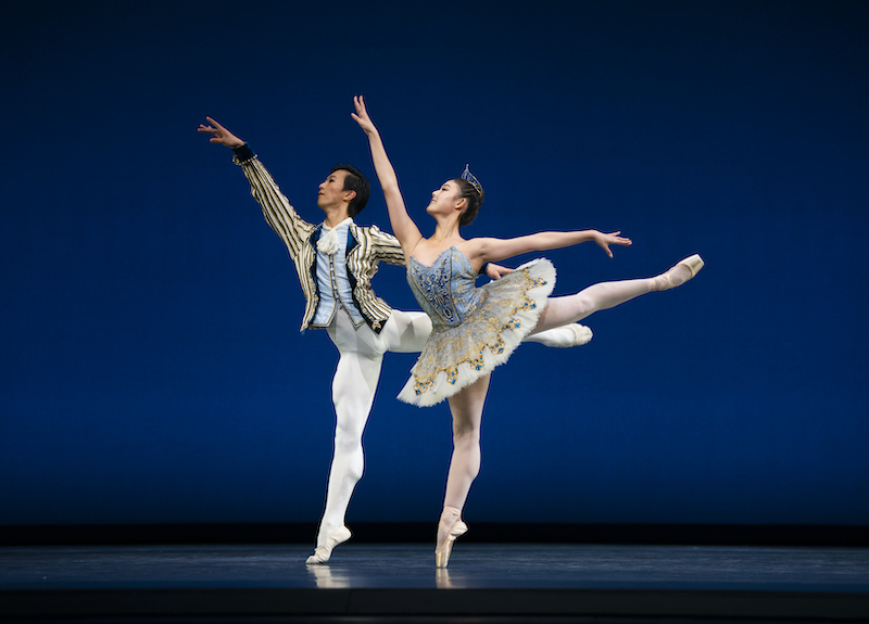 Wona Park and Wei Wang in Gsovsky's Grand Pas Classique // © Erik Tomasson
