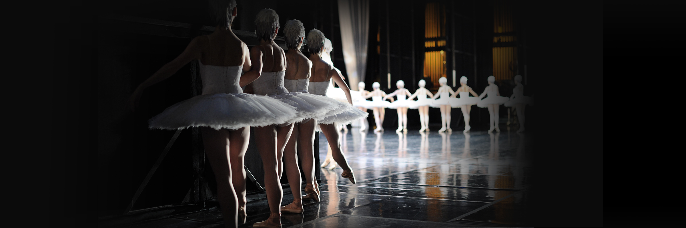 San Francisco Ballet dancers backstage of Swan Lake
