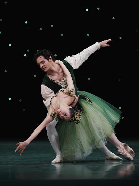 Misa Kuranaga and Angelo Greco in Balanchine's Emeralds // Choreography by George Balanchine © The Balanchine Trust; Photo © Erik Tomasson
