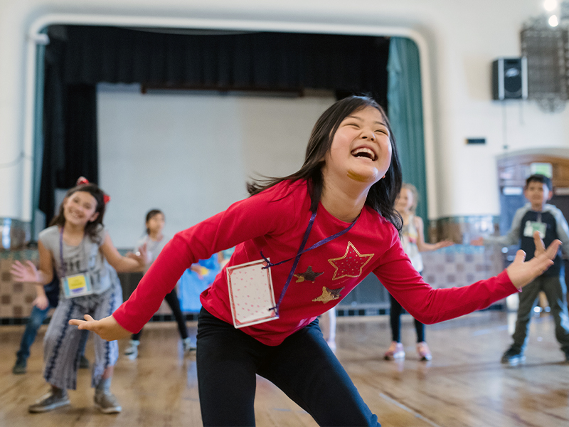 Dance In Schools & Communities at Sherman Elementary School. (© Brandon Patoc)