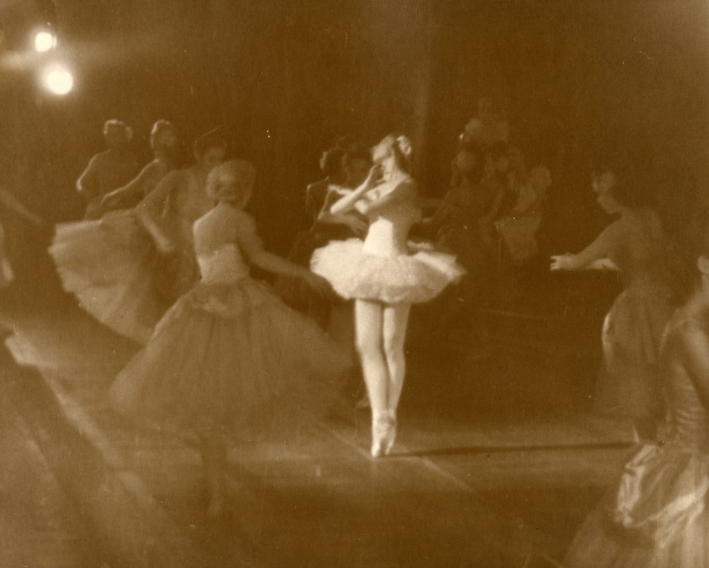 "Celina Cummings in W. Christensen's ""Nutcracker"", 1944. (© San Francisco Ballet. Photo courtesy SFMPD.)"