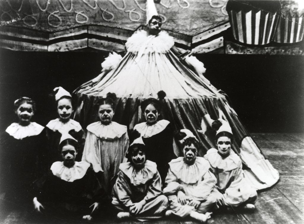 Mother Buffoon and children in Willam Christensen's Nutcracker.