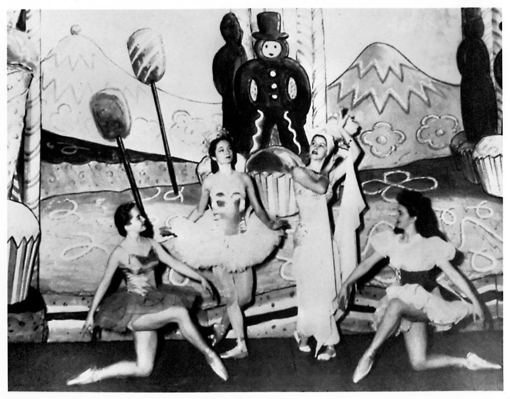 "Jocelyn Vollmar and members of SF Ballet in Willam Christensen's ""Nutcracker,"" 1944. (Photo courtesy SFMPD.)"